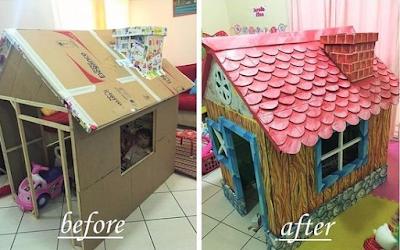 Cómo Hacer La Mejor Casita De Cartón Para Niños Paso A Paso Lodijoella Casas De Cajas De Cartón Casa De Juegos De Cartón Casa De Cartón