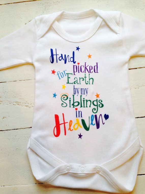 Heaven Sent Kissed by an Angel Bodysuit Baby Clothes Sleepsuit New Baby Baby Girl Bodysuits Baby Gift Baby Boy Bodysuits Romper