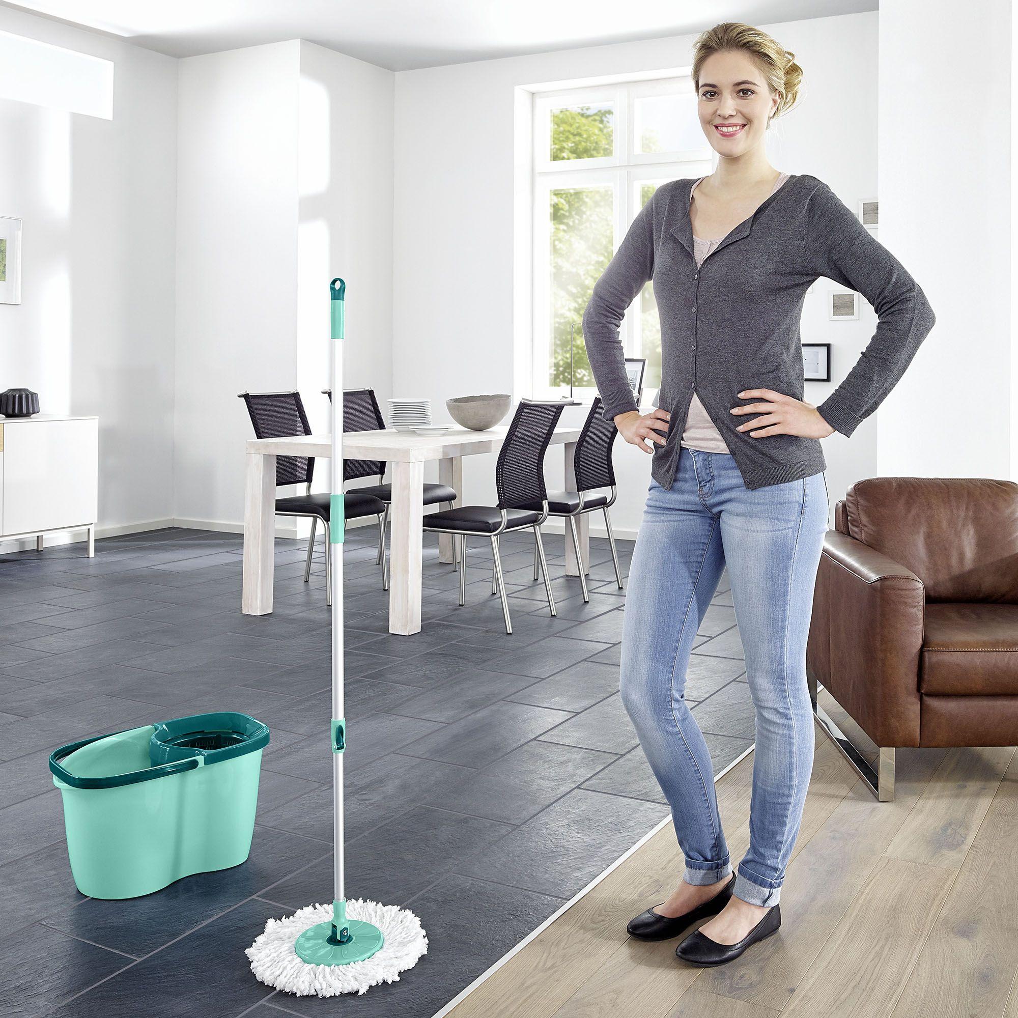 Leifheit Clean Twist Disc Mop Active Set Microfiber Mops Cleaning Wringer