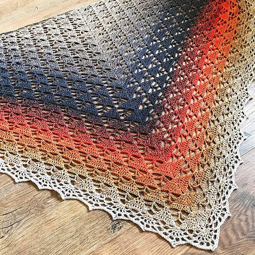 Wild Ginger pattern by Lisa Cook | Tücher, Handarbeiten und Schals