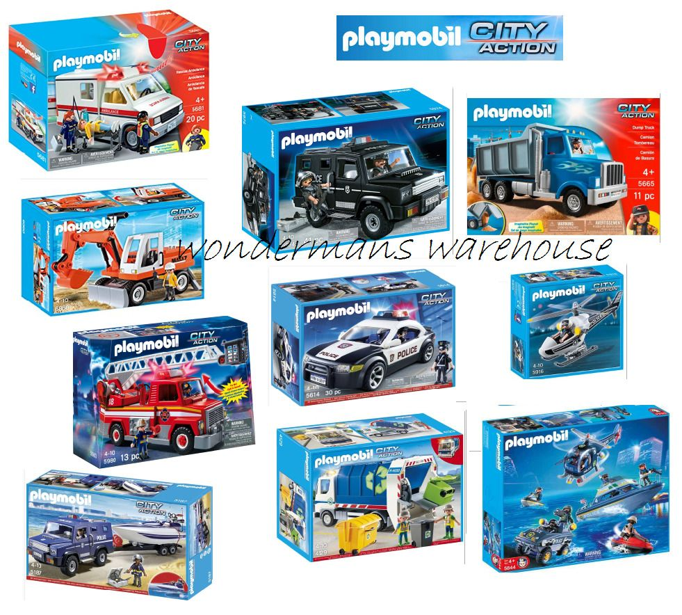 Playmobil City Action Set Police Ambulance Speedboat Truck Jeep Car New Jeep Cars Speed Boats Police Truck