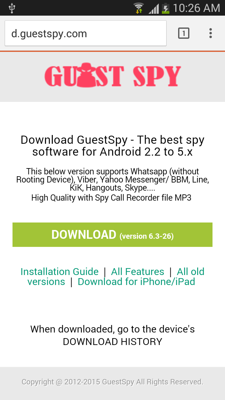 android spy free download full version
