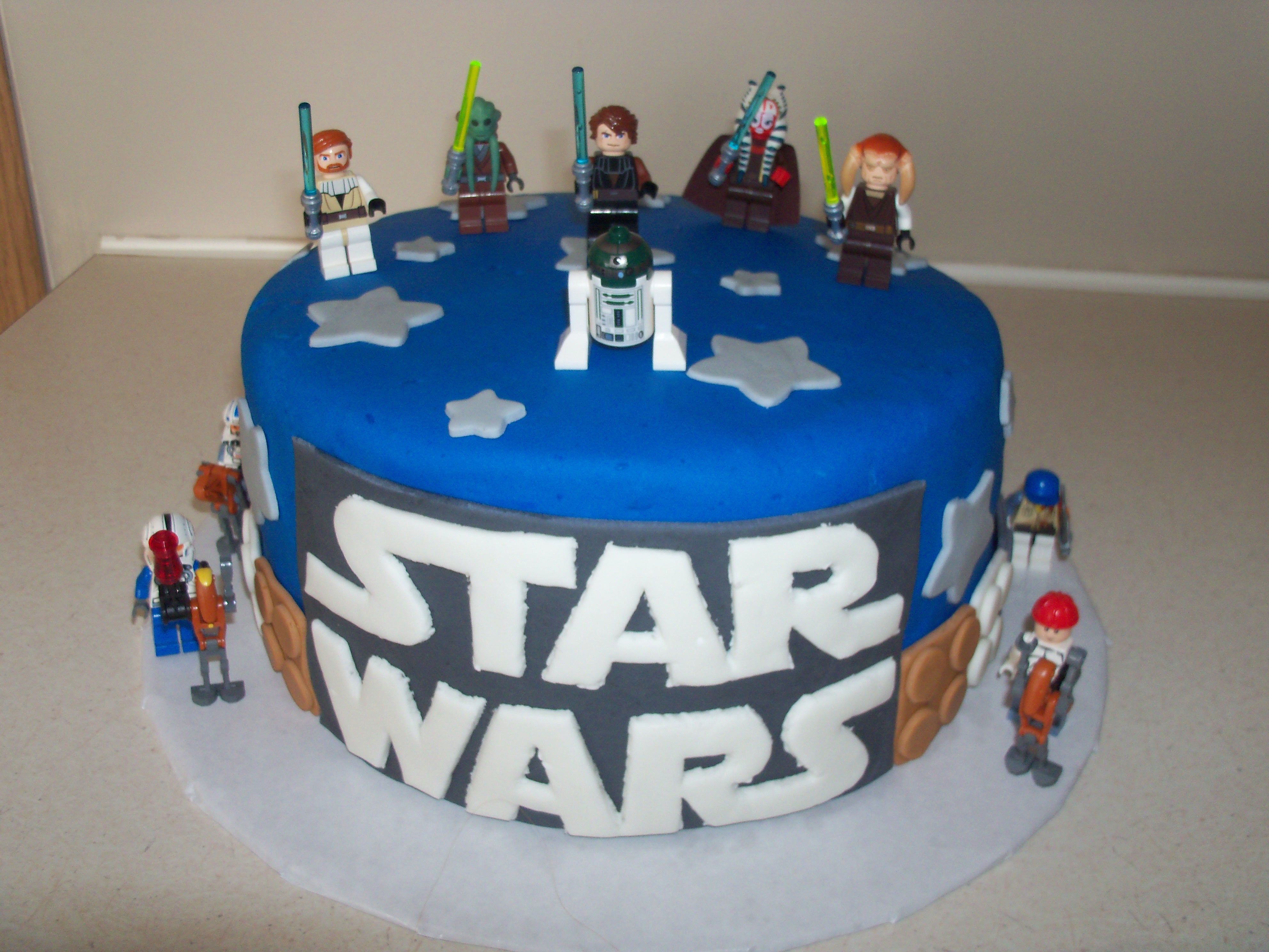 Lego Star Wars Cake With Images Star Wars Birthday Cake Star