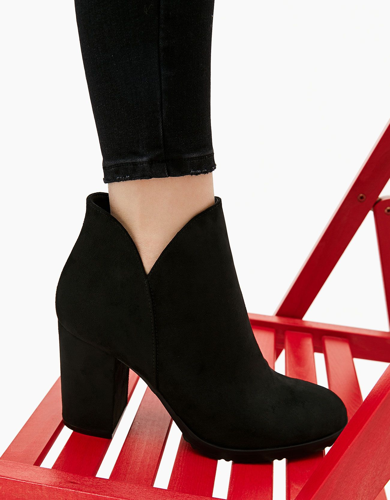 3820623dfb0 ... botines dama rojos. ankle boots with block mid-heel. Discover this and  many more items in Bershka with new products every week
