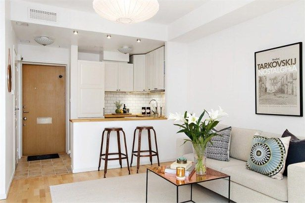 This studio apartment located in the Swedish capital is 24m ²