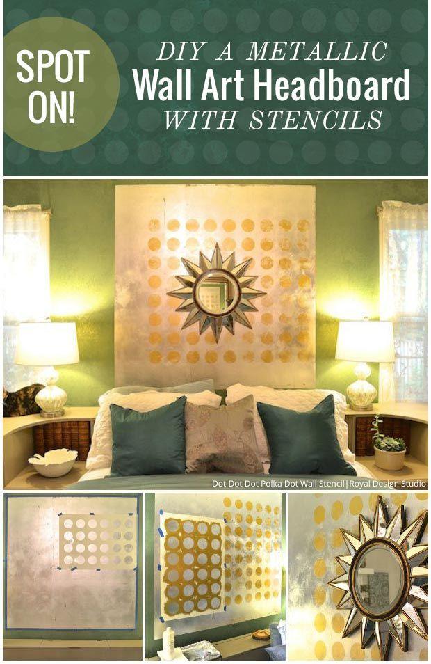 Spot On! DIY a Metallic Wall Art Headboard DIY Tutorial using Large ...