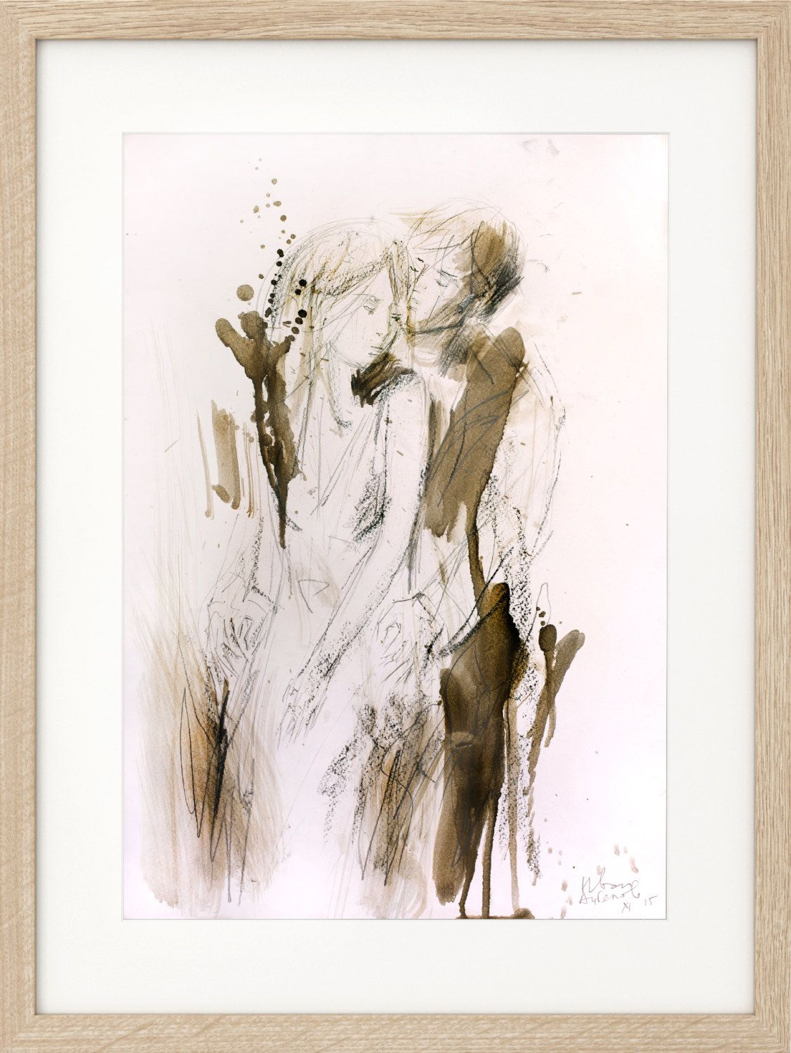 Charcoal sketch original artistic drawing couple figurative charcoal sketch original artistic drawing couple figurative wall art modern artwork amipublicfo Image collections