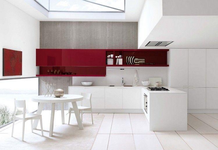 Decoracion de cocinas a todo color - 78 ejemplos | Color rojo vino ...