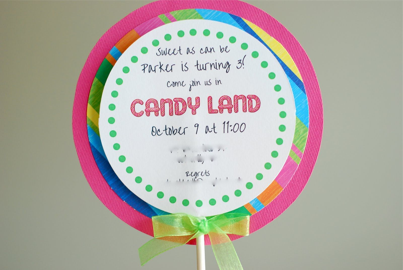 Free Printable Candyland Invitation Templates | ... than i could ...