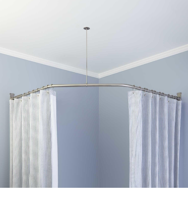 Corner Shower Curtain Rod Without Ceiling Support : Best shower ...