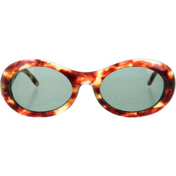 13835430fadbd Divine 90s GUCCI Tortoiseshell Resin Oval Eye Round Cat Eye Vintage... ( 165