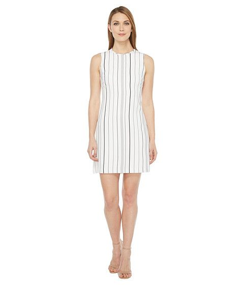CALVIN KLEIN Sleeveless Stripe Trapeze Dress Cd7Eyc2R. #calvinklein #cloth #dresses