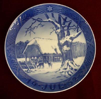 1952 royal copenhagen christmas plate christmas in the forest 21000 usd - Royal Copenhagen Christmas Plates