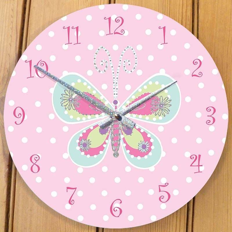 Cute Butterfly Clock For Her Room