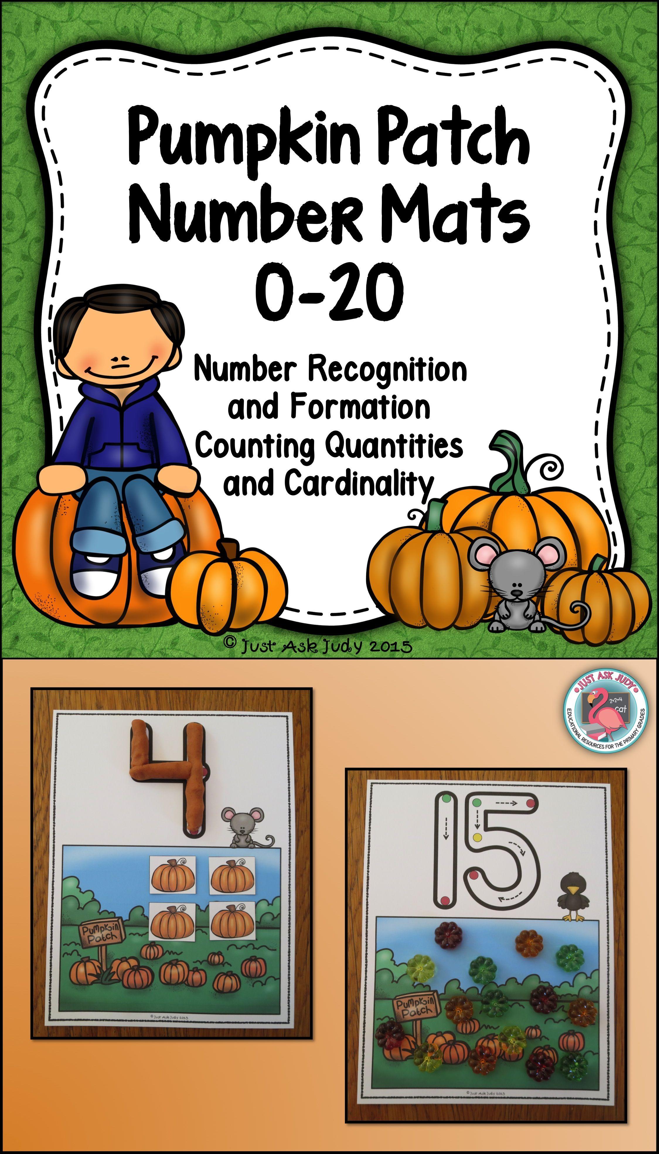 Number Mats 0 20 Pumpkin Patch