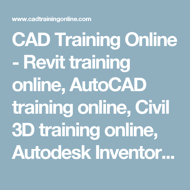 CAD Training Online - Revit training online, AutoCAD