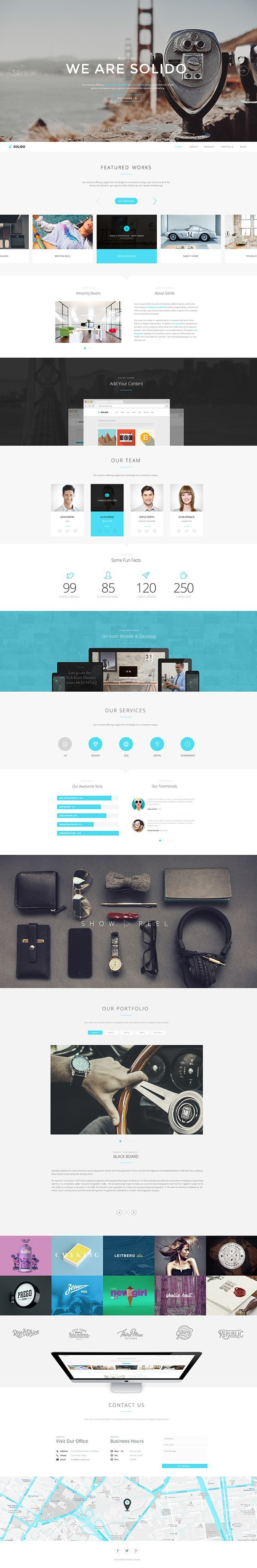 Solido Responsive One Page Parallax Template Web