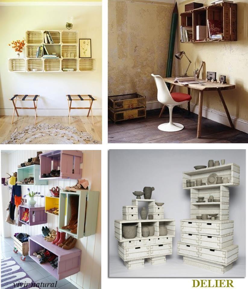 Cajas de madera decoraci n pinterest caja de madera - Ideas para reciclar cajas de madera ...