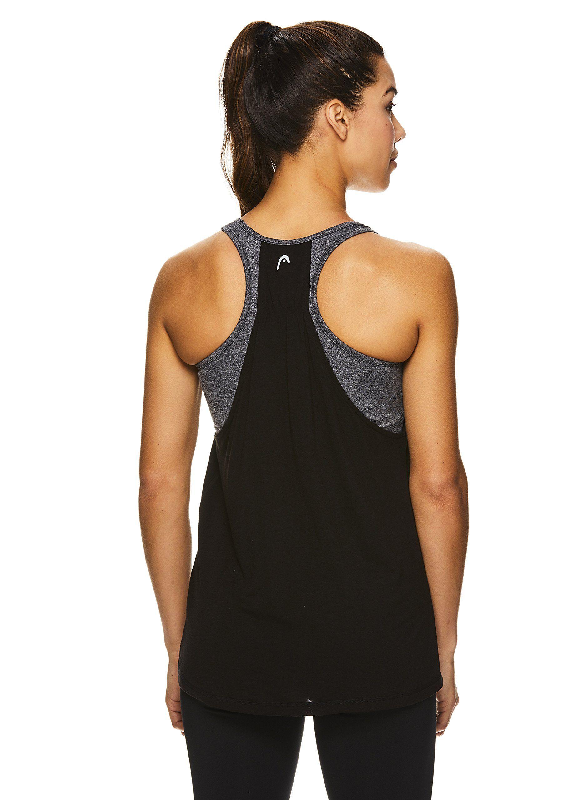 958c7e7976d pregnancy workout - HEAD Womens Contender Racerback Workout Tank Top w/Built  in Shelf Sports Bra Black Contender Medium -- Look into this wonderful item.