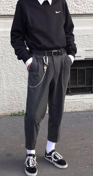 Pin By Clp Streetwear Techwear On Monochrome Aesthetic 90s Fashion Men Mens Trendy Outfits Streetwear Fashion