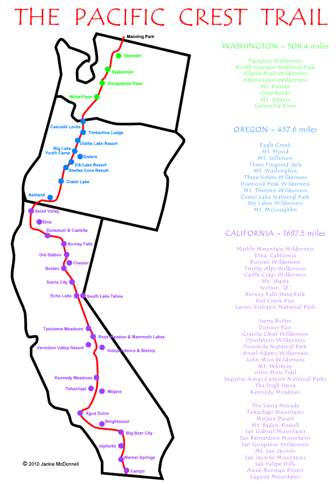 pacific crest trail map pdf