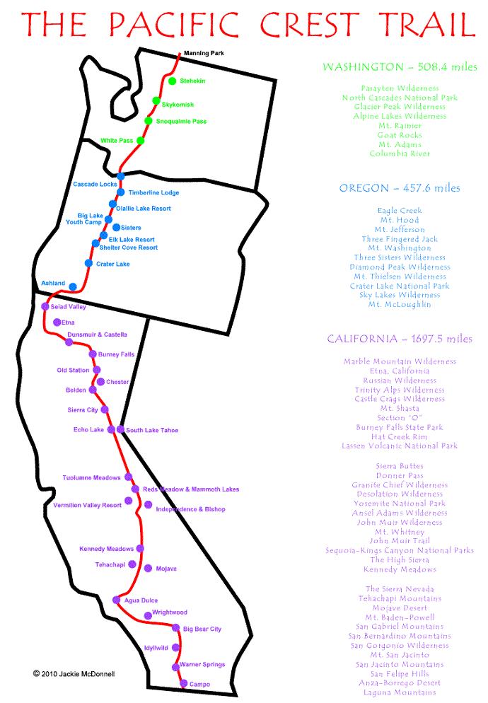pacific crest trail map pdf