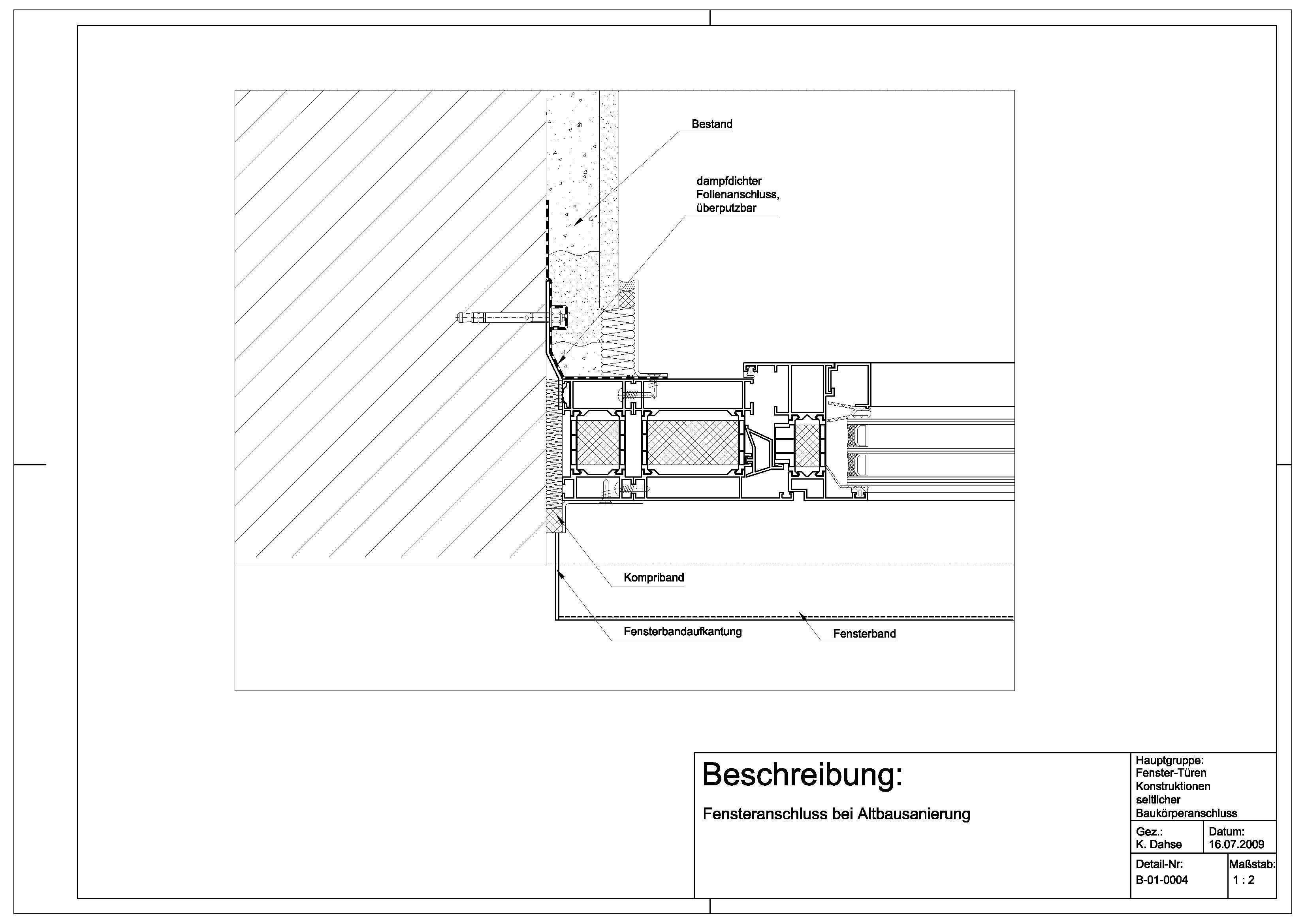 B 01 Fensteranschluss Bei Altbausanierung