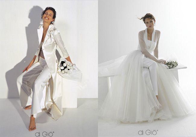 Resultado de imagen de vestidos novia 2019 pantalon