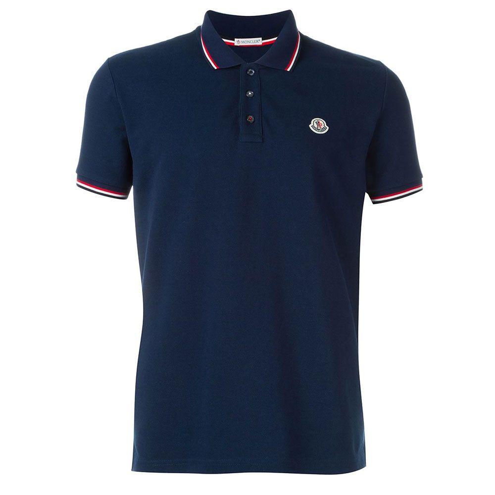 navy blue moncler polo