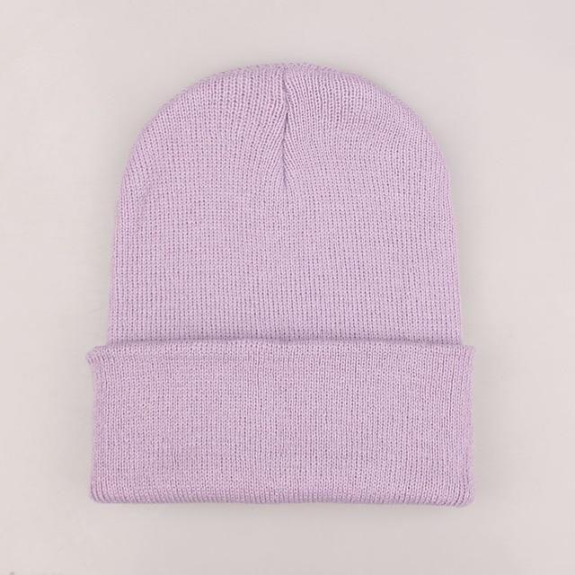 695b65c71e5 2018 Winter Hats for Woman New Beanies Knitted Solid Cute Hat Girls Autumn  Female Beanie Caps Warmer Bonnet Ladies Casual Cap