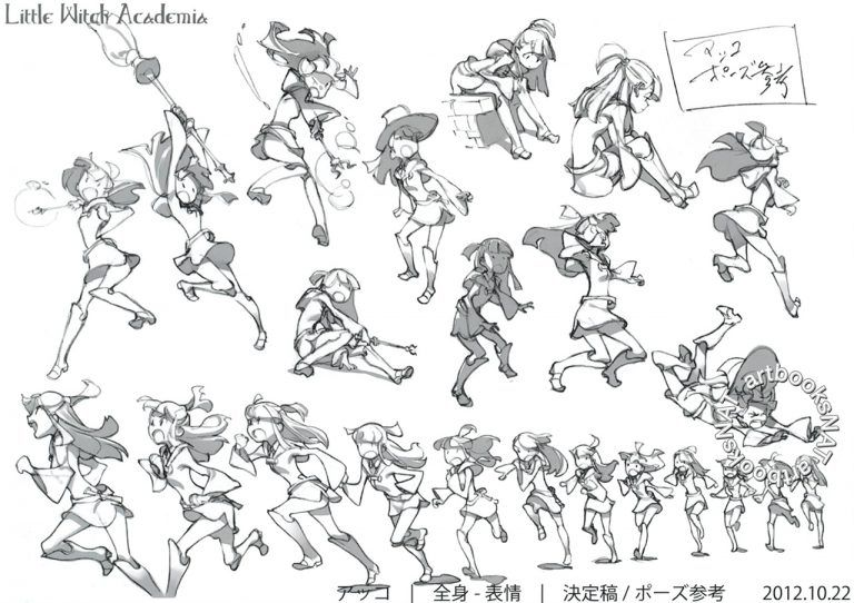 A Look Back At Little Witch Academia Official Art From