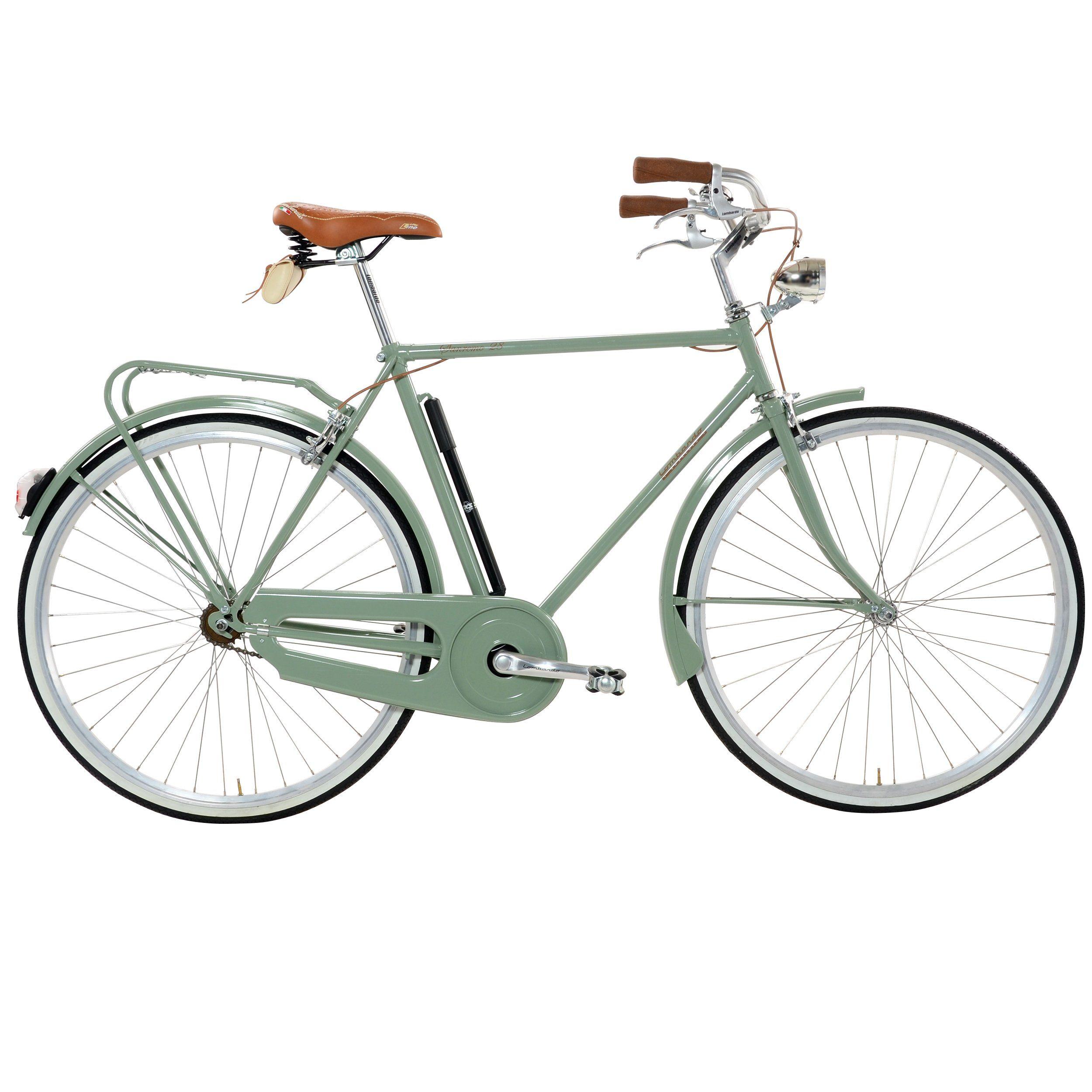 Lombardo Sanremo M City Bike Military Green 22 Inch One Size 99