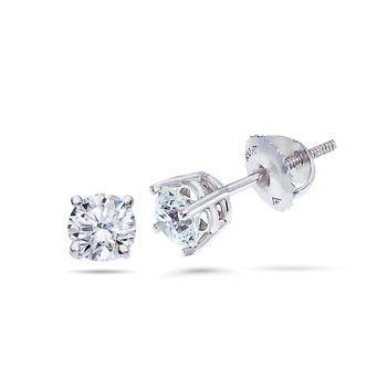 Costco: Round Brilliant 0.30 ctw VS2 Clarity, I Color Diamond 14kt White Gold Screwback Stud Earrings