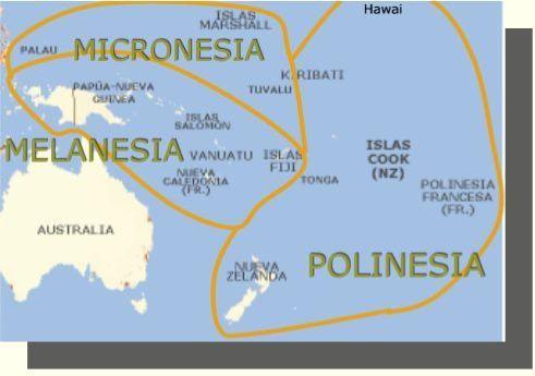 Mapa De Micronesia Polinesia Y Melanesia Islas Islas Cook