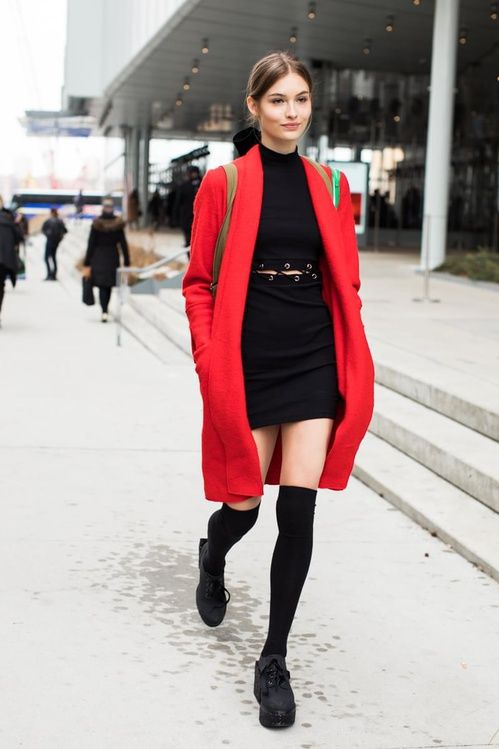 Dress in winter 2018 fashion