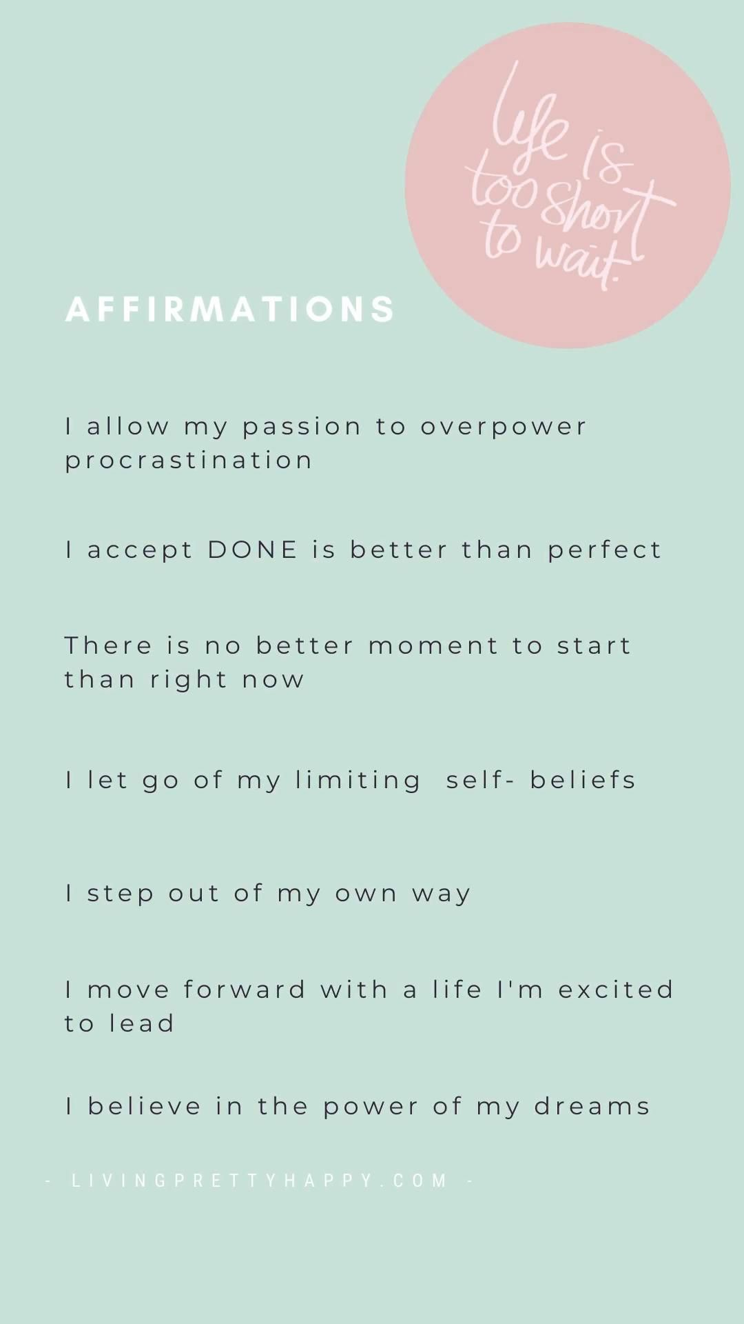 Affirmations for personal growth & productivity