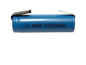 3 6 Volt Aa 750 Mah Li Ion 14500 Battery With Tabs By Blue Sleeve 5 25 Nominal Voltage 3 7v Size Aa 14500 Capacity Storage Life Energy Density Spot Welding