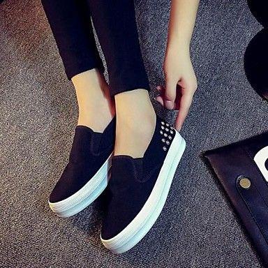 8c24b5264e73f Zapatos de mujer - Plataforma - Comfort - Sneakers a la Moda - Exterior    Casual - Semicuero - Negro   Azul   Blanco 4746336 2016 –  15.133