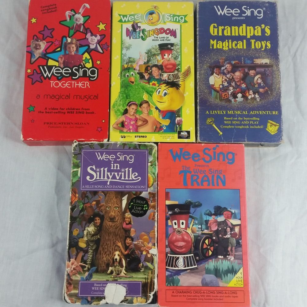 Wee Sing The Best Christmas Ever Vhs.Wee Sing Vhs Lot Of 5 Tapes Magical Musical Train Grandpa