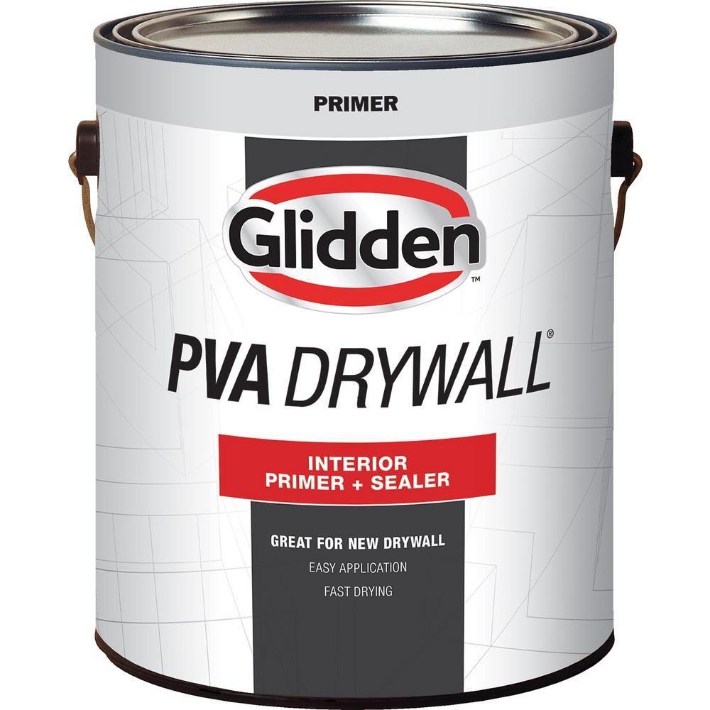 1 Gal Pva Drywall Interior Primer White In 2020 Interior Primer Glidden Interior Design School
