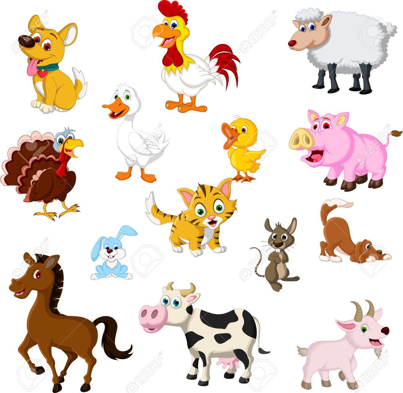 Farm Animal Cartoon Collection Cartoon Animals Animal Clipart Farm Animals Preschool