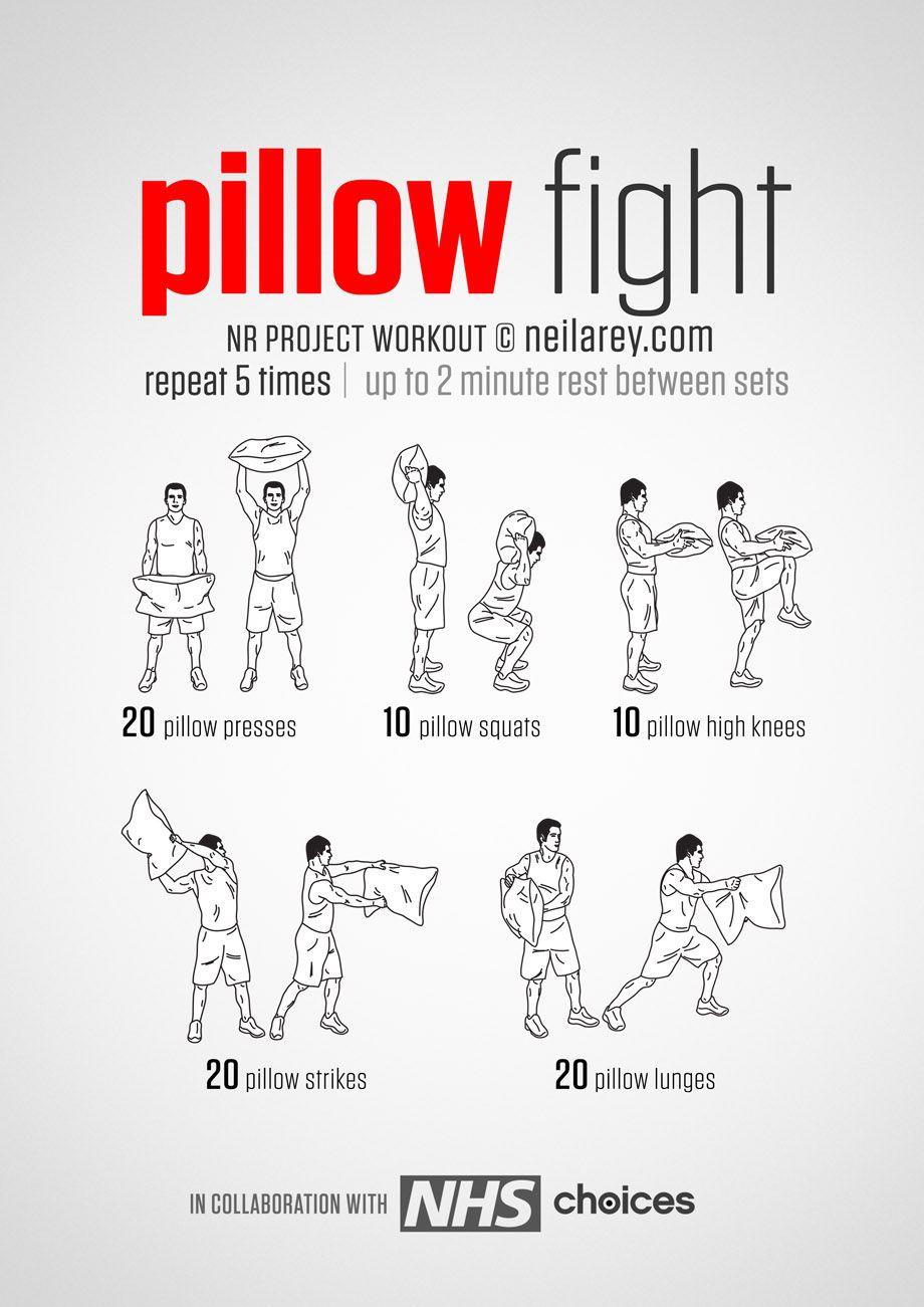 Pillow fight workout.