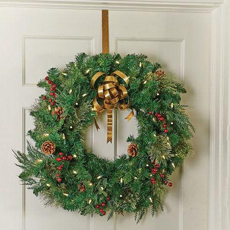 Gold Metal Over The Door Christmas Wreath Hanger Holidays