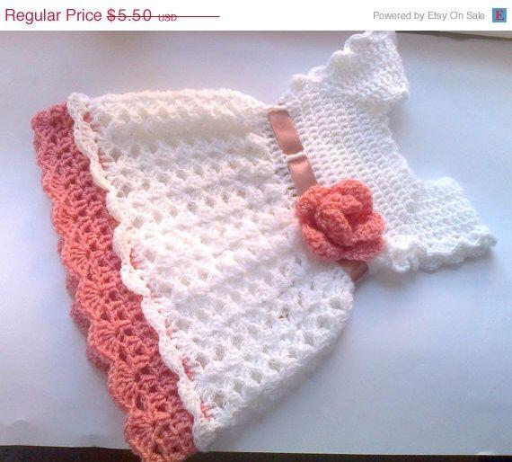 CIJ SALE Crochet Baby dress Pattern PDF Crochet newborn dress Digital Download Pattern Diy Baby Shower Gift by paintcrochet on Etsy https://www.etsy.com/listing/192684854/cij-sale-crochet-baby-dress-pattern-pdf