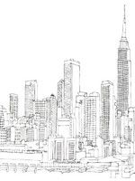 Coloriage Gratuit A Imprimer New York.Coloriage Adulte New York Et L Empire State Building New York