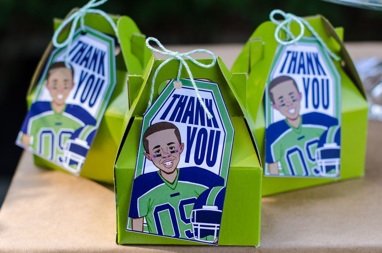 "Portrait Party ""Thank You"" boxes by Something Chic"