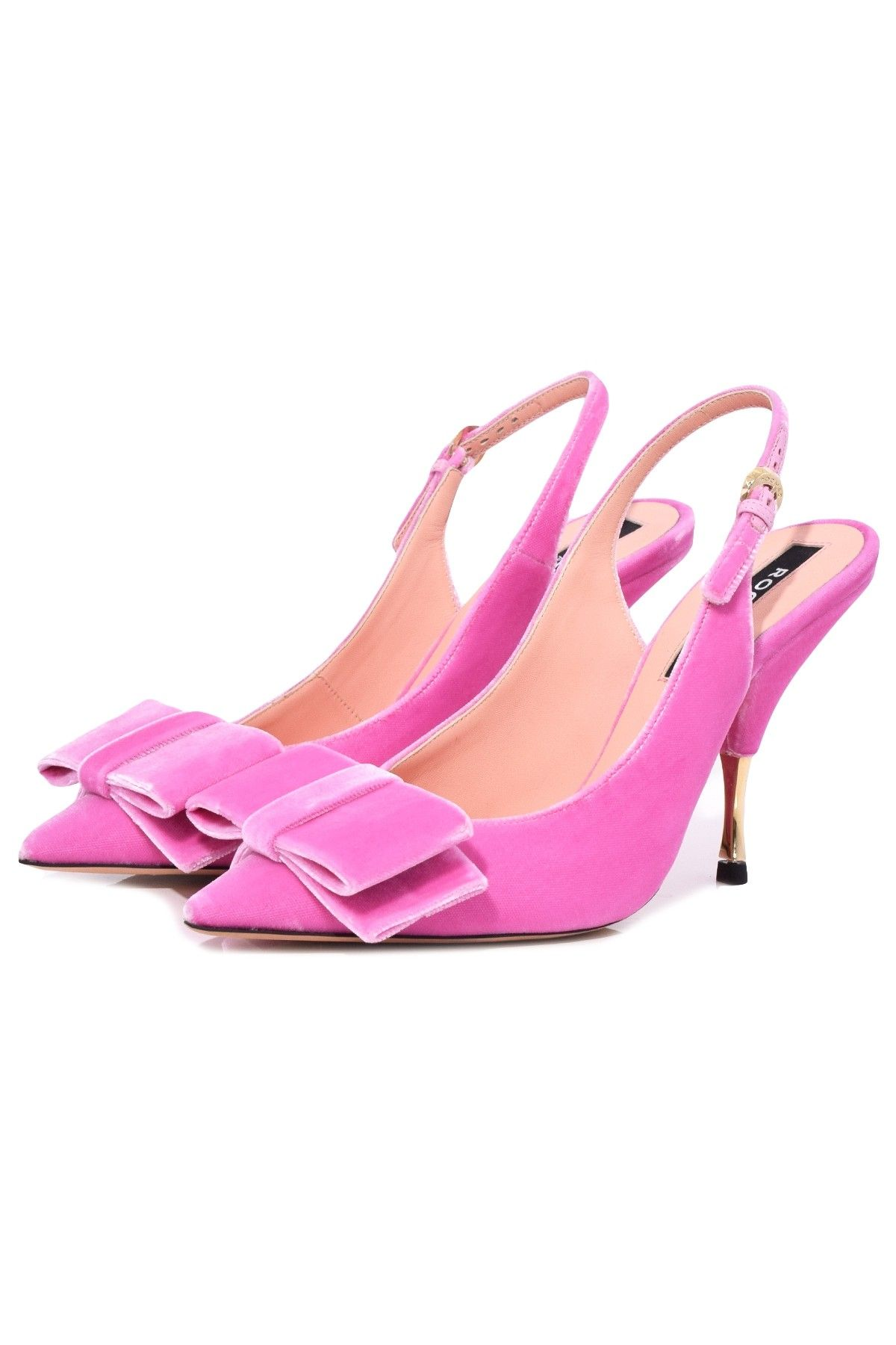 d659256605d Rochas Slingback Pump in Hot Pink Velvet | SLINGBACKS ETC 3 i 2019 ...