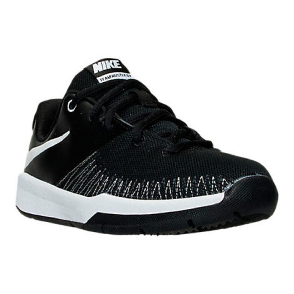 innovative design c1970 88721 Boys  Shoes Nike Team Hustle D 7 Low Basketball Shoes Youth Size 7 Black  NIB…