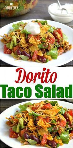 DORITO TACO SALAD (+Video) #tacosalad