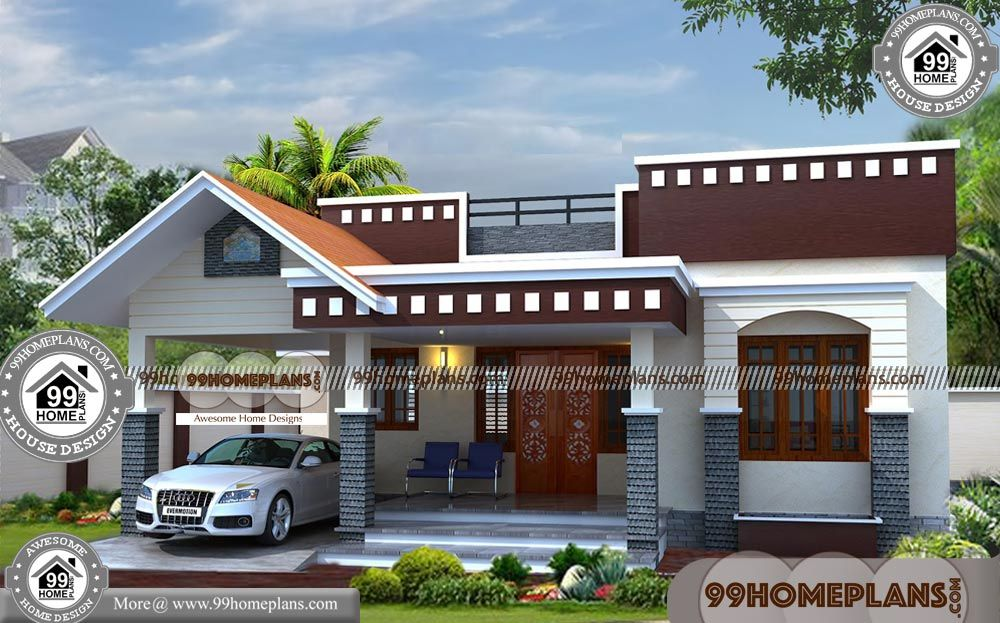 Simple One Story House With Traditional Indian House Designs